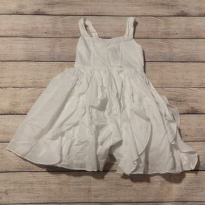 White Mexx Ruffle Dress